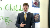 Nick Clegg speech on childhood poverty Nick Clegg speech continued SOT So let me start with the scale of the challenge the legacy of the previous...