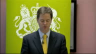 Nick Clegg speech on new approach to families in the immigration system Clegg speech SOT These parents and their children will not be treated like...