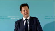 Nick Clegg speech on rehabilitation of offenders Clegg speech SOT For years the Liberal Democrats have argued that you only truly break the cycle of...