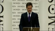 Nick Clegg speech to Demos and the Open Society Foundation Clegg speech SOT So liberals are optimistic about the potential of people collectively and...