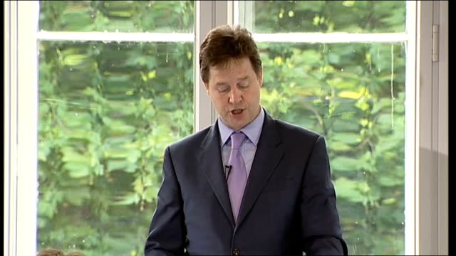 Nick Clegg speech to the Institute of Government Nick Clegg speech SOT plurality / It is not the place of politicians – not least liberal...