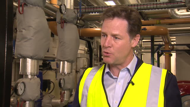 Nick Clegg the Lib Dems Campaign in Bath Shows interior shot Nick Clegg answering question and talks about plans for balancing the books and bringing...