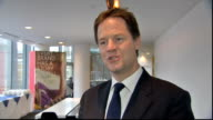 London Microsoft INT Nick Clegg MP interview on internships SOT It is really important to give all people the same opportunities to do work...