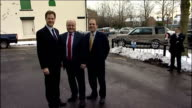 Nick Clegg visits apprentice training centre in Oldham ENGLAND Greater Manchester Oldham EXT Nick Clegg MP and Simon Hughes MP out of car and...