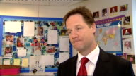 Nick Clegg visits Marsham Street Nursery Nick Clegg MP interview SOT Childcare support is lifeline for families up and down the country particularly...