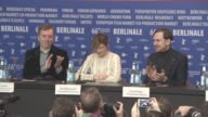 Nick James Alba Rohrwacher Lars Eidinger Meryl Streep Clive Owen Malgorzata Szumowska Brigitte Lacombe at International Jury Press Conference 66th...