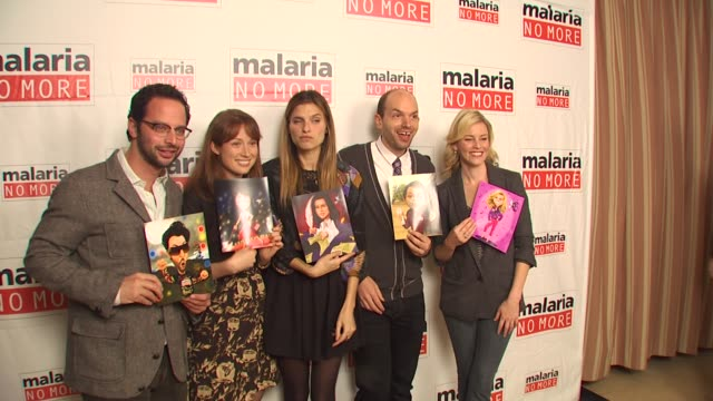 Nick Kroll Ellie Kemper Lake Bell Paul Scheer Elizabeth Banks at the Malaria No More Comedy Fights Malaria Campaign Launch at West Hollywood CA