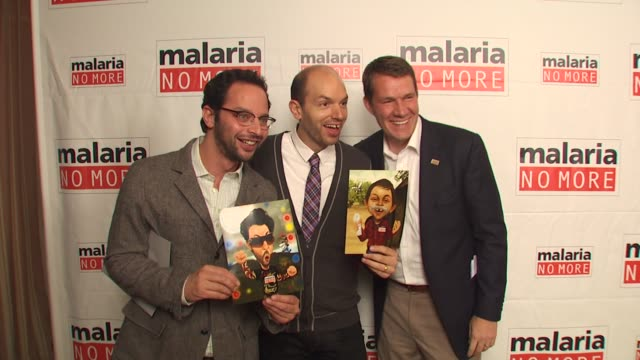 Nick Kroll Paul Scheer Scott Case at the Malaria No More Comedy Fights Malaria Campaign Launch at West Hollywood CA