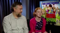 Nick Moore and Scarlett Stitt on Anjelica Huston at the Horrid Henry Interviews at London London