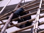 Nicknamed 'spiders' for their gravitydefying skills in weblike constructions Hong Kong's bamboo scaffolders have risen above predictions that their...