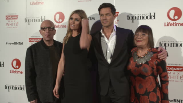 Nicky Johnston Abbey Clancy Paul Sculfor Hilary Alexander 'Britain's Next Top Model' UK premiere on January 14 2016 in London England