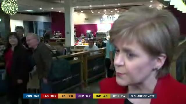 Nicola Sturgeon MSP along through arrivals at airport Nicola Sturgeon MSP interview SOT I'm obviously a wee bit disappointed that Labour wasn't...