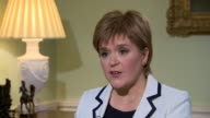 Nicola Sturgeon saying 'Scotland needs to ask itself if it is happy to have its direction determined by a rightwing Conservative government'