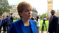 Nicola Sturgeon saying she is calling for a Brexit approach that is 'opened up' to include all parties and nations and has continued membership of...