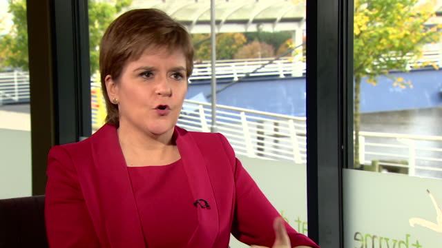 Nicola Sturgeon saying the argument for another independence referendum in Scotland after the end of Brexit negotiations 'may gather strength'