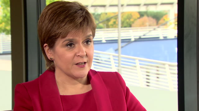 Nicola Sturgeon saying the SNP are 'pursuing the biggest reform to education in the history of the Scottish parliament'