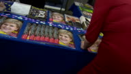 Nicola Sturgeon signing autographs at an SNP conference in Aberdeen