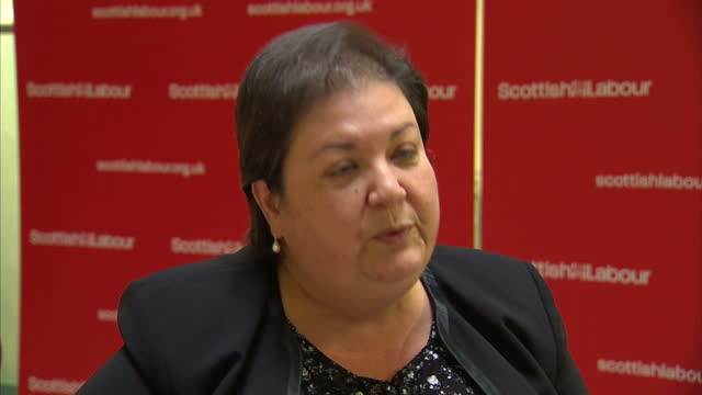 Nicola Sturgeon Speaks at SNP Autumn Conference Showing Interior shots of Nicola Sturgeon speaking at conference exteriors of Unison protesters...