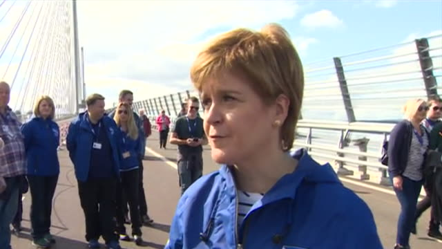 Nicola Sturgeon talking about the 'sense of pride' in Scotland about the Queensferry Crossing Bridge and that she feels it will become 'one of the...
