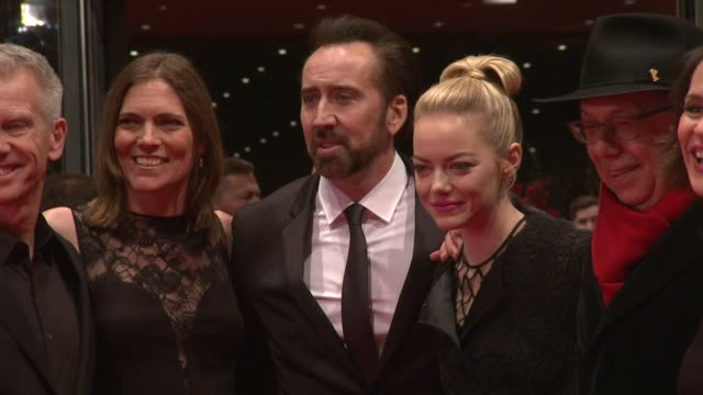 Nicolas Cage Emma Stone and Kim Alice at the The Croods Premiere 63rd Berlinale International Film Festival at Berlinale Palast on February 15 2013...