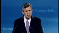 Nicolas Sarkozy and Gordon Brown UKFrance summit 2008 Gordon Brown MP press conference SOT You have already spoken about defence cooperation and in...