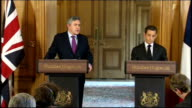 press conference with Gordon Brown Brown press conference SOT On the European Monetary Fund we are of course prepared to look at any proposals that...