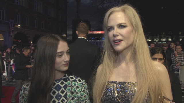 INTERVIEW Nicole Kidman on working with Raffey Cassidy on her career and her love of acting at 'The Killing of a Sacred Deer' UK Premiere 61st BFI...