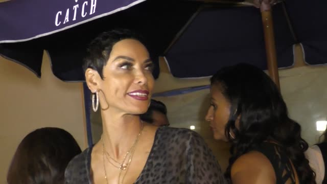 INTERVIEW Nicole Murphy talks about if Lingerie Football players should take a knee during the Anthem outside Catch Restaurant in West Hollywood in...