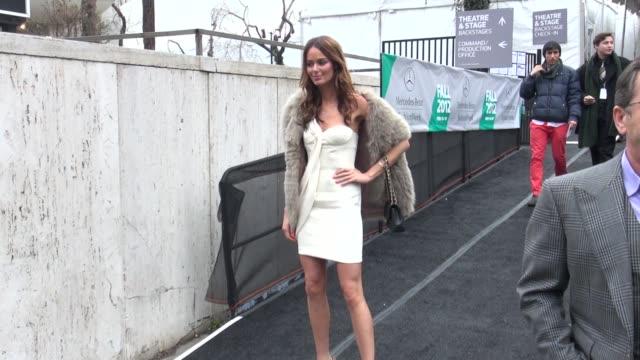 Nicole Trunfio at MercedesBenz Fashion Week in New York on 2/15/2012