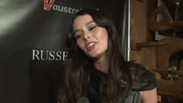 Nicole Trunfio talks about working with Russell James She talks about how adventurous he is how he keeps things interesting She talks about posing...