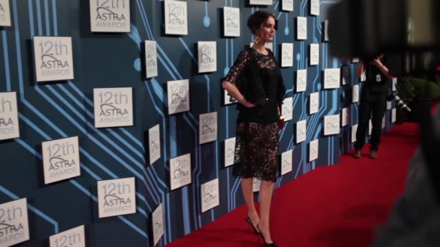 Nicole Trunfio The Face walks the red carpet and comments on cohost rivally with Naomi Campbell at the 12th ASTRA Awards Show on March 20 2014 in...