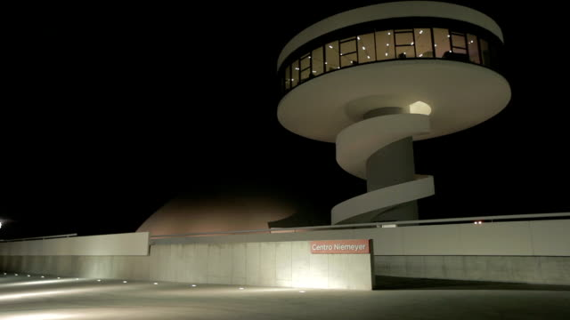 Niemeyer Centre Spain Night time
