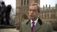 Nigel Farage saying Donald Trump 'is a friend of this country and frankly all this student style politics does is damage our national interests' in...