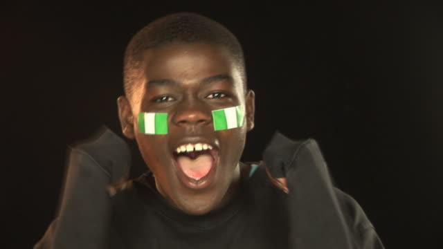 Nigeria football / soccer sports fan - HD & PAL
