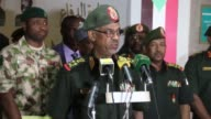 Nigerian Ministry of Defence Mansur Muhammad DanAli meets with his Sudanese counterpart Awad Ibn Ouf in Khartoum Sudan on April 24 2017