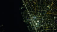 Night Aerial View Of World Trade Center In New York City