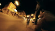 Notte giro in bicicletta Seamless Loop Time Lapse