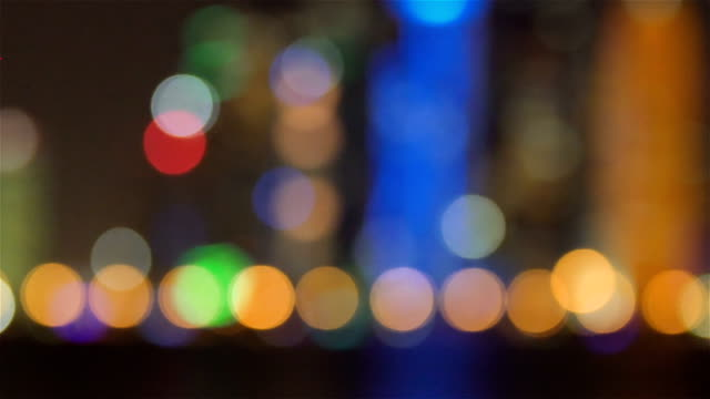 Natt bokeh ljus bakgrund