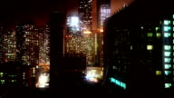 Night Chicago time lapse