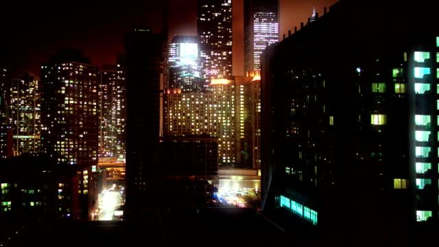 Chicago di notte time lapse