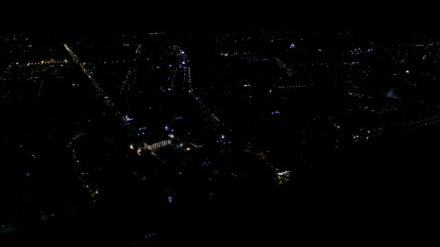 Night City Scene, Aerial View