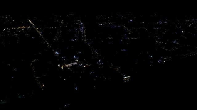 Nacht Szene-Stadt, Luftaufnahme