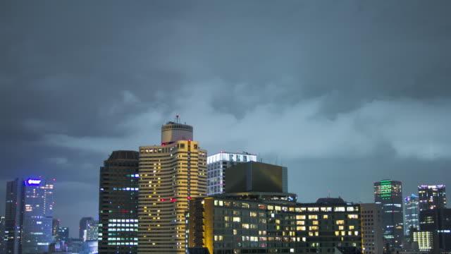T/L, Night Cityscape in Tokyo, Japan.
