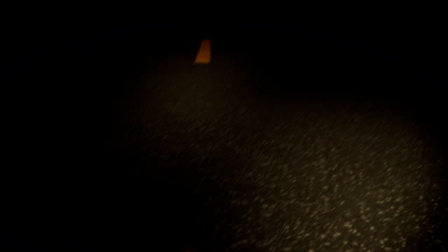 night drive down the street - low visibility