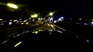 Night drive timelapse