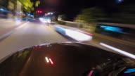 Nacht rijden timelapse