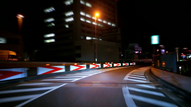 Night driving in Tokyo ,timelapse