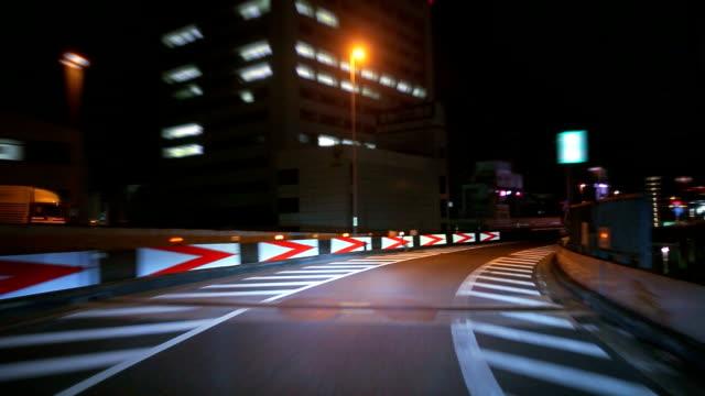 Nacht fahren in Tokio, timelapse