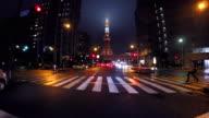 Night driving in Tokyo -Tokyo Tower -4K-
