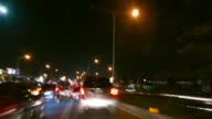 Night driving time lapse